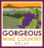 Display gorgeous wine country relay logo